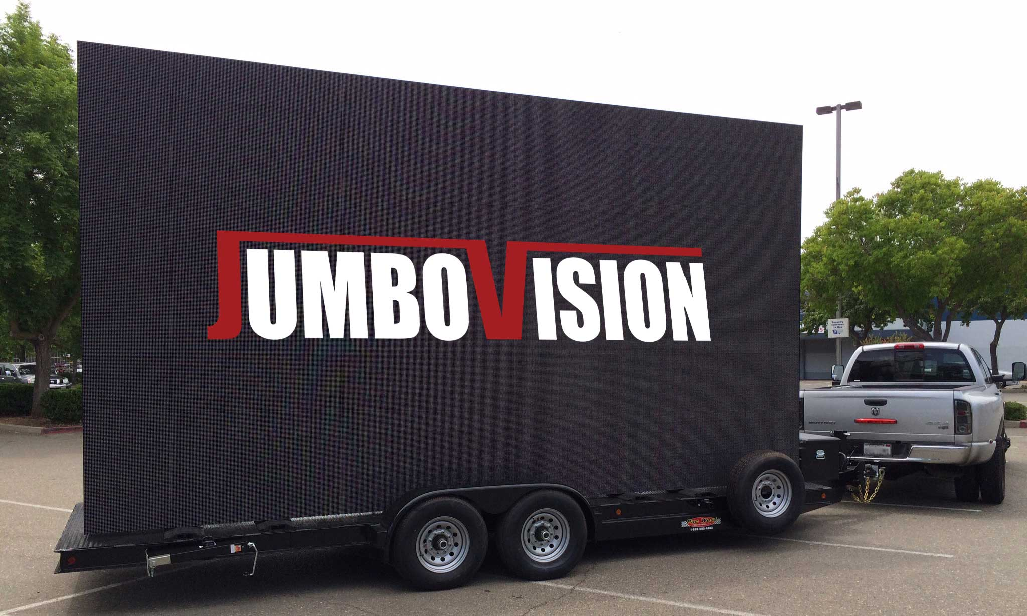 JumboVision Mobile LED Screen Trailer