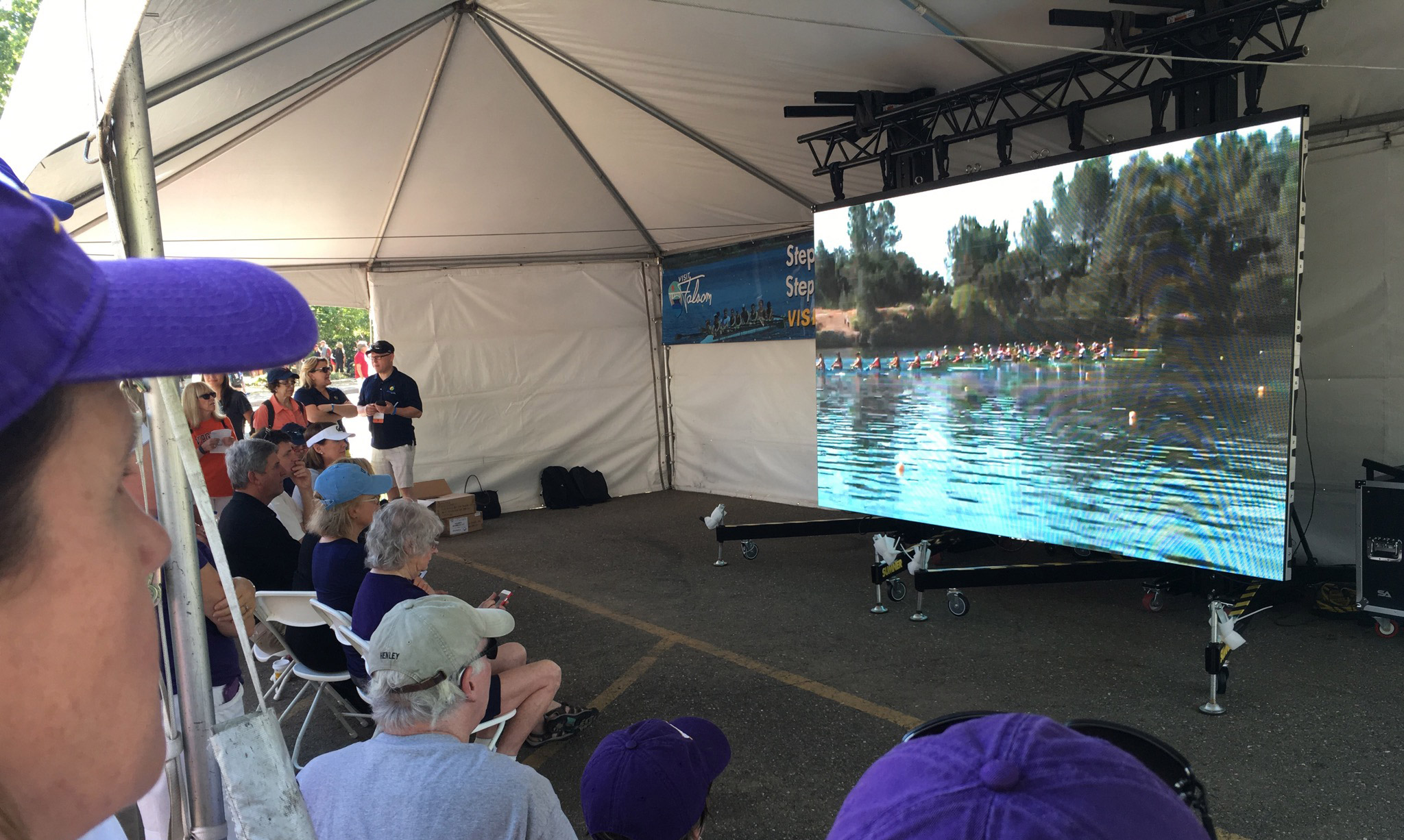 Modular LED Screen at NCAA Rowing